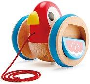 Пиленце - Дървена играчка за дърпане -