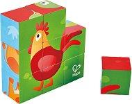 Дървени кубчета - Ферма - Образователна играчка -