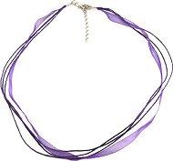 Памучен шнур с органза за гердан - Със закопчалка