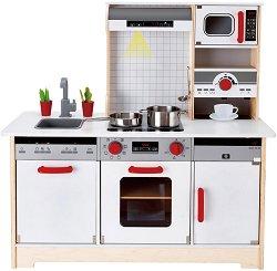 Детска дървена кухня - Детски комплект за игра - играчка