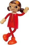 Майка - Дървена мини кукла -
