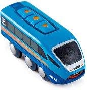 """Акумулаторен локомотив с USB - Детска играчка от серията """"Hape: Влакчета"""" -"""