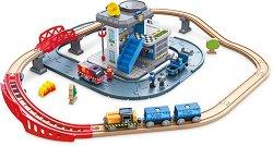 Станция за спешни случаи - Дървен комплект за игра с аксесоари - играчка