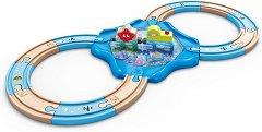 Подводна железница - Детска дървена образователна играчка - играчка