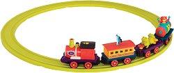 """Влакче - The Critter Express - Детска музикална играчка от серията """"B Toys"""" - творчески комплект"""