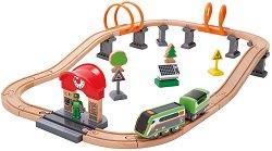 Пътнически влак с аксесоари - играчка