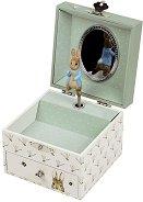 Музикална кутия за бижута - Зайчето Питър - Детски аксесоар -