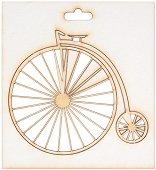 Фигурка от бирен картон - Ретро велосипед