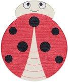 Дървена фигурка - Калинка - С размери - 4.6 x 5.5 cm