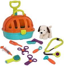 Ветеринарен комплект с кученце - Детски комплект за игра -