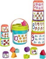 Кула от чаши - Цифри и предмети - Комплект за сортиране -