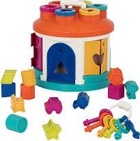 Сортер - Къща - Детска играчка за сортиране -