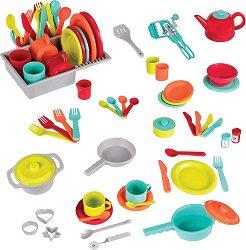 Съдове и прибори - Детски комплект за игра - играчка