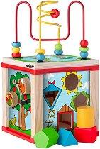 Дидактически куб - Дървена образователна играчка -
