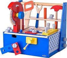 Сандъче с детски инструменти - Дървен комплект за игра - играчка