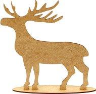 Фигурка от MDF - Елен - Предмет за декориране с размери 20 / 16 / 0.3 cm