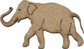 Фигурка от MDF - Слон - Предмет за декориране с размери 10 / 6 / 0.2 cm