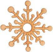 Фигурка от MDF - Снежинка - Предмет за декориране с размери ∅ 10 x 0.3 cm