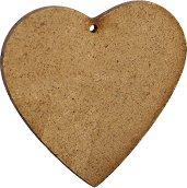 Фигурка от MDF - Сърце - Предмет за декориране с размери 9 / 10.5 / 0.2 cm