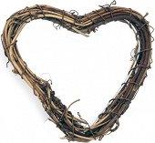 Декоративен венец - Сърце - С височина 10 cm
