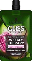 Gliss Bio-Tech Restore Weekly Therapy - Възстановяваща терапия за крехка и склонна към увреждане коса - пяна
