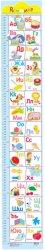 Ръстомер - Азбука - Детски метър за измерване на височина от 60 cm до 150 cm -