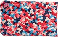 """Ученически несесер - Blue and Red - От серията """"Zipit: Pixel"""" -"""