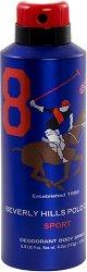 Beverly Hills Polo Club Sport 8 Deodorant Body Spray - Спрей дезодорант за мъже - шампоан