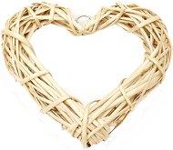 Декоративно сърце от ратан - С размери 20 x 19 cm