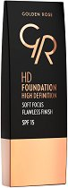 Golden Rose HD Foundation - SPF 15 - фон дьо тен