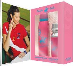 Подаръчен комплект - Beverly Hills Polo Club 9 Pour Femme - дезодорант