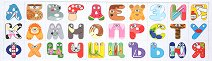 Магнитни български букви - Детски образователен комплект - играчка
