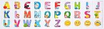 Магнитни английски букви - Детски образователен комплект - продукт