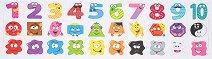 Магнитни цифри, фигури и цветове - Детски образователен комплект - играчка