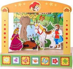 Детски куклен театър - Дървена играчка - образователен комплект