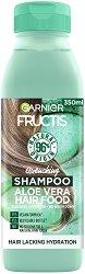 Garnier Fructis Quenching Aloe Vera Hair Food Shampoo - Хидратиращ шампоан за нормална до суха коса с алое вера - сапун