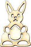 Фигурки от бирен картон - Великденско зайче - Комплект от 2 броя за декорация с размери 3 / 5 / 0.1 cm