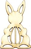Фигурки от бирен картон - Великденско зайче