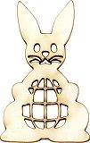 Фигурки за декорация от бирен картон - Заек с яйце - Комплект от 2 броя с размери 5 / 3 / 0.1 cm