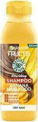 Garnier Fructis Nourishing Banana Hair Food Shampoo - Подхранващ шампоан за суха коса с екстракт от банан - маска
