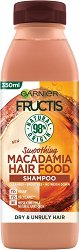 Garnier Fructis Smoothing Macadamia Hair Food Shampoo - Изглаждащ шампоан с макадамия за суха и непокорна коса -