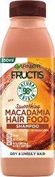 Garnier Fructis Smoothing Macadamia Hair Food Shampoo - Изглаждащ шампоан с макадамия за суха и непокорна коса - маска