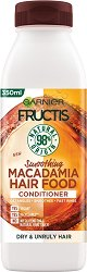 Garnier Fructis Smoothing Macadamia Hair Food Conditioner - Изглаждащ балсам с макадамия за суха и непокорна коса - мокри кърпички