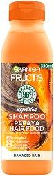 Garnier Fructis Repairing Papaya Hair Food Shampoo - Възстановяващ шампоан за увредена коса с папая - маска