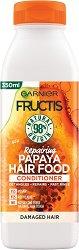Garnier Fructis Repairing Papaya Hair Food Conditioner - Възстановяващ балсам за увредена коса с папая - мокри кърпички