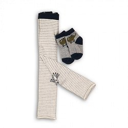 Бебешки комплект - Клин тип чорапогащник и чорапи -
