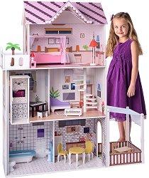 Обзаведена къща за кукли с асансьор -
