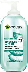 Garnier Hyaluronic Aloe Cleansing & Minimizing Pores Gel - Почистващ и хидратиращ гел за всеки тип кожа - фон дьо тен