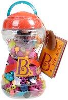 """Мъниста в бурканче - Pop Art - Комплект от 300 броя от серията """"B Toys"""""""