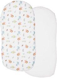 Чаршафи за мултифункционално кошче - Baby Hug - Комплект от 2 броя с размери 39 x 77 cm -